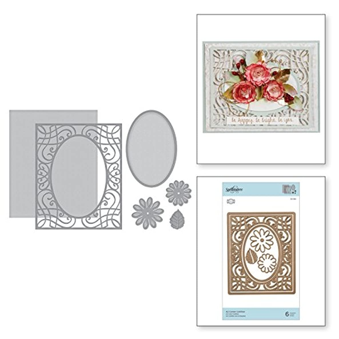 Spellbinders S5-364 Card Creator A2 Corner Cotillion Etched/Wafer Thin Dies