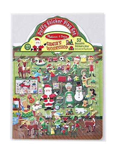 Melissa & Doug Puffy Stickers – Santa's Workshop