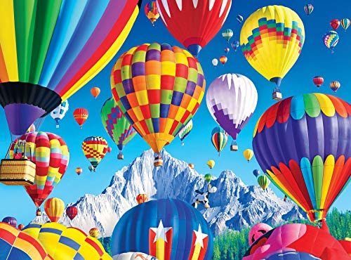 KODAK PREMIUM PUZZLES 1000 Piece- Balloons Over a Mountain