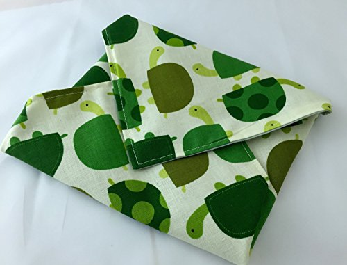 Reusable Sandwich Wrap - Urban Zoologie Turtles Grass Green