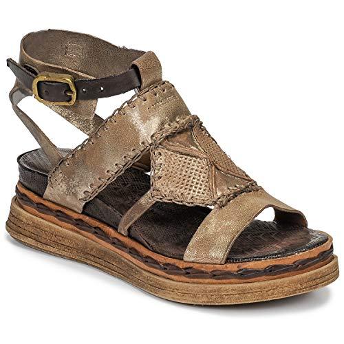 airstep / a.s.98 Lagos Sandalen/Sandaletten Damen Gold - 39 - Sandalen/Sandaletten Shoes