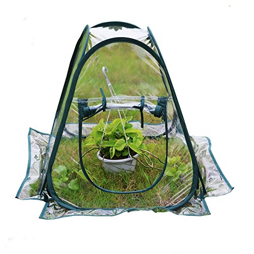 "Mini Pop up Greenhouse Small Indoor Outdoor Gardening Flowerpot Cover Backyard Flower Shelter 27""x27""x31"""
