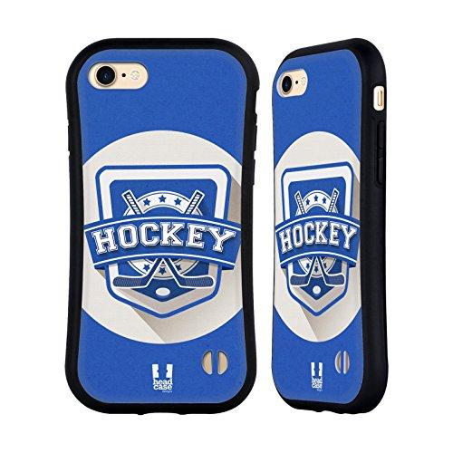 Head Case Designs Hockey Sportabzeichen Hybrid Hülle für Apple iPhone 7