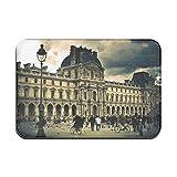 N\A Alfombra de baño Alfombra de Cocina Louvre París Francia Entrada de baño Felpudo Alfombra de Dormitorio