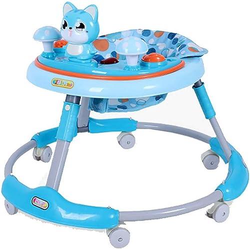 Trougeteur Anti-retourneHommest Multi-Fonction 6 7-18 Mois pouvant s'asseoir en Se Pliant Trolley pour bébé, Bleu