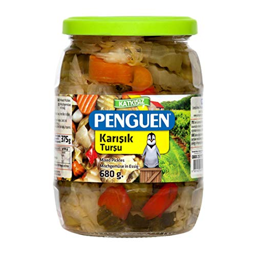Penguen ペンギン 砂糖不使用 無添加ピリ辛ミックスピクルス 680g(固形分約375g) トルコ産 Karisik Tursu Mix Pickles