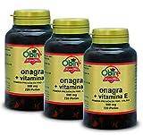 Obire | 220 Perlas Aceite de Onagra 500 mg con 10% en GLA (Ácido Gamma-linolénico) + 3,35 mg de Vitamina E | Ayuda a Reducir el Colesterol y Mejora tu Piel | 220 Perlas (Pack 3 unid.)