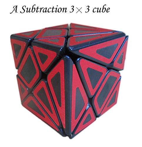 Aŭtuno Cubes, Ghost Cube, The Solid core Structure, a Subtraction 3x3x3 Cube, Puzzles (Black Body with red Colour).