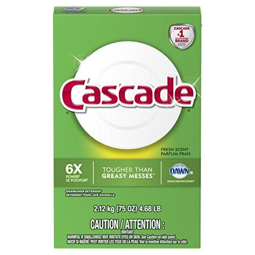 Cascade Powder Dishwasher Detergent, Fresh Scent, 75 Oz