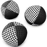 speevers XBalls Jonglierbälle professionelles 3er Set - Wurfbälle zum Jonglieren in 15 Farben - Jonglierset für Kinder, Erwachsene, Anfänger, Profis - Beanbags mit Tragetasche (schwarz-weiß, 120g)