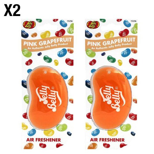 Jelly Belly Pink Grapefruit Geschmack 3D zum Aufhängen AUTO/Büro Lufterfrischer–2Pack (Twin Pack)