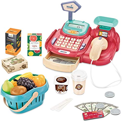 Hayden Ljsu Cash Register for Kids Pretend Play Supermarket Shop