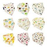 Irypulse Baby Bandana Dribble Lätzchen, 10 Pack Sabber Lätzchen für Jungen und Mädchen, schön, weich und gut absorbierend, beste Baby-Dusche-Geschenk