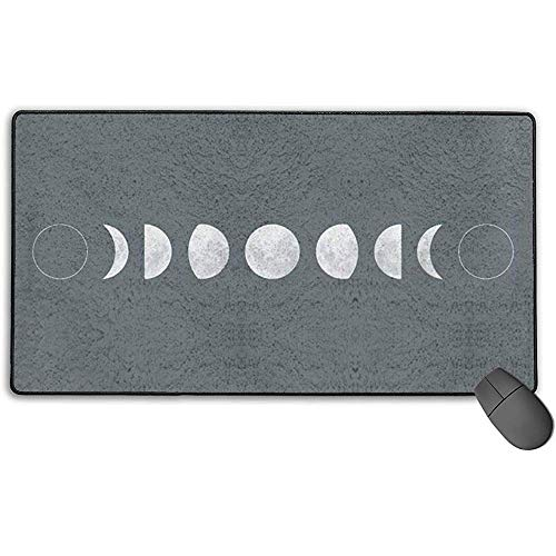 Deurmat Moon Phase Print muismat met vergrendelingsrand, antislip rubberen voet muismat