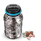 Digital Coin Bank,digital counting money jar,Big Piggy Bank Digital Counting Coin Bank for Kids Adult Boys Girls as Gift on Christmas,Birthday,New Year's day,Powered by 2AAA Battery (Not Included)