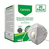 Dust Mask Disposable Anti Pollution Mask, N95 Safety Mask with Exhalation Valve, 6 Layer Activated Carbon Air...