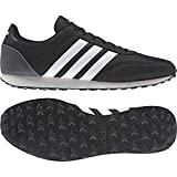 ADIDAS V Racer 2.0, Zapatillas para Hombre, Negro (Core Black/Solar Red/Footwear White), 46 EU