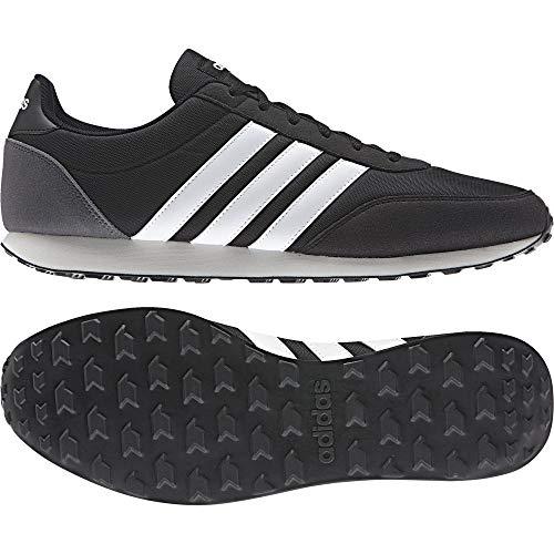 ADIDAS V Racer 2.0 Bc0106, Zapatillas para Hombre, Negro (Core BlackSolar RedFootwear White), 44 EU