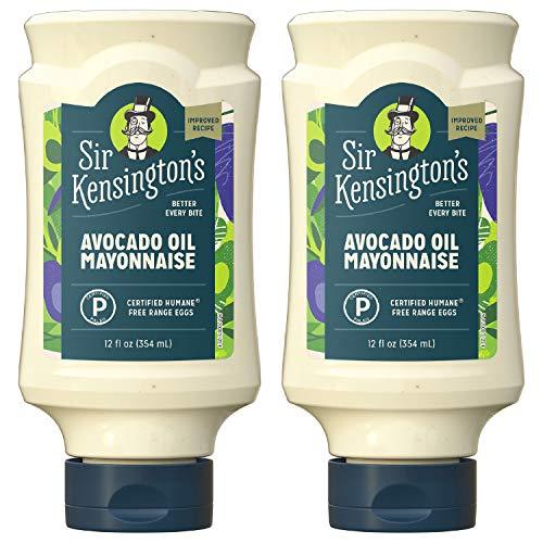 Sir Kensington's Mayonnaise, Keto Diet & Paleo Diet Certified, Avocado Oil Mayo, 12 Fl Oz (Pack of 2)