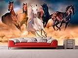 Fotomural Vinilo para Pared Caballos | Fotomural para Paredes | Mural | Vinilo Decorativo | Varias Medidas 100 x 70 cm | Decoración comedores, Salones, Habitaciones.
