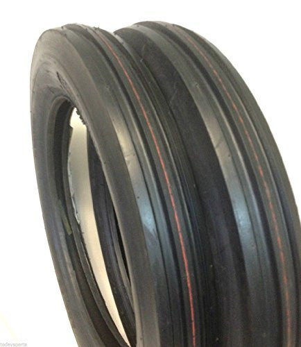 Two 4.00-19 Rib Tractor Tires with Tubes 400-19 Three Rib by Deestone