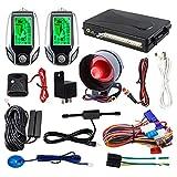 EASYGUARD Sistema de alarma de coche de 2 vías EC204 con entrada sin llave pasiva PKE, pantalla recargable del buscador del LCD y advertencia de choque DC12V