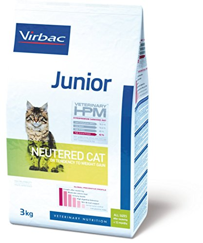 Virbac Vet Hpm Cat Junior Neutered Nourriture 3 kg pour Chien