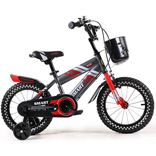 WEHOLY Fahrradreise Kinderfahrräder 2-4 Jahre alte Jungen und Mädchen Mountainbikes 12-Zoll-Babyfahrräder mit leichtem Damenrad, rot/blau