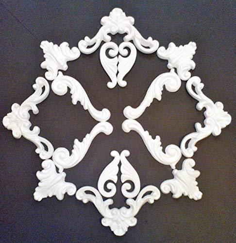 Shabby Chic Style Gips Stuck Relief Deckenspiegel Wanddekoration