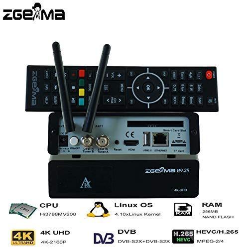 Sleekview H9.2S con 2 sintonizadores múltiples DVB-S2X 4K UHD 2160p Twin sintonizador Receptor de satélite WiFi Integrado