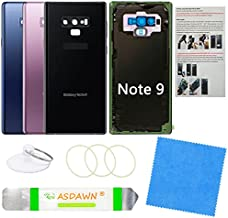 Galaxy Note 9 Back Cover Glass Replacement with Pre-Installed Camera Lens + All The Adhesive + Installation Manual + Repair Tool Kit for Samsung Galaxy Note 9 SM-N960 All Carriers (Midnight Black)