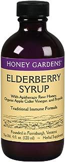 Honey Gardens Elderberry Syrup w/Apitherapy Raw Honey, Propolis & Elderberries   Immune Formula   48 Serv   4 fl. oz.