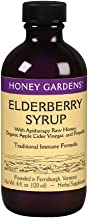 Honey Gardens Elderberry Syrup w/Apitherapy Raw Honey, Propolis & Elderberries | Immune Formula | 48 Serv | 4 fl. oz.