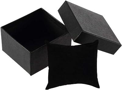 collectsound Caja de Regalo de cartón para Pulsera, Anillos, Pendientes, Reloj de Pulsera, Negro, Talla única: Amazon.es: Hogar
