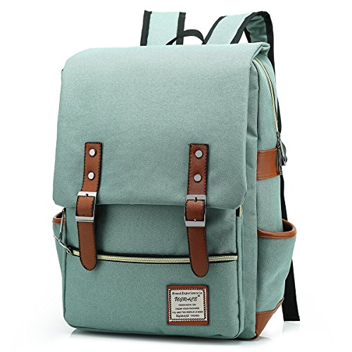 """Unique Backpack :Crafted with premium lightweight tear resistant Oxford fabric and quilted polyester lining, simple, elegant and vintage casual daypacks fits for school daily and outdoor sports External Dimension: Approx. 11.6""""L x 17.2""""H x 5.4"""" W (29..."""