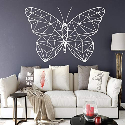 Lustige Geometrie von Schmetterling Wandaufkleber Wohnkultur für Kinderzimmer Home Party Wallpaper LILA L 43cm X 62cm
