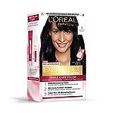 L'Oreal Paris Excellence Creme Hair Color, 1 Black, 72ml+100g