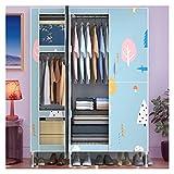 YUXI8541NO Armario portátil multiusos para armario, organizador portátil, armario de dormitorio, armario de almacenamiento...