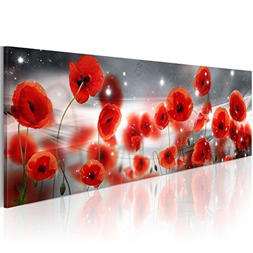 murando Acrylglasbild Blumen 120x40 cm Wandbild auf Acryl Glas Bilder Kunstdruck Moderne Wanddekoration Mohnblumen rot b-C-0157-k-a