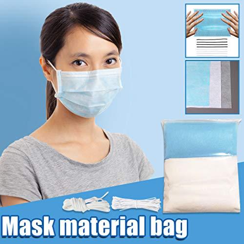 EUZeo_Herren Shirts Kouzhao Material DIY Selbstgemachtes Material Set für Gesicht DIY Herstellung von handgefertigtem Handwerk Vliesstoffpaket