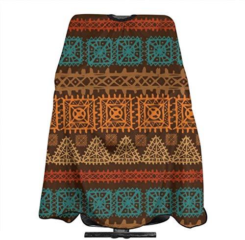 Glas Perilla Ethno Arabische Boheemse Boho Grensstrepen Gepersonaliseerde Aangepaste Profionale Haarsalon Apron, Polyester Haar Sjaal 55