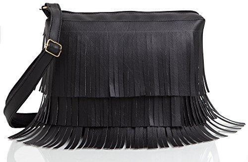 Mammon Women's Crossbody Bag - Black, Sidebelt-blk