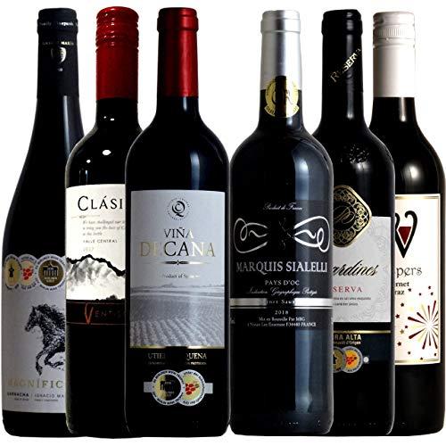 vinexio-ヴィネクシオ- 全て金賞受賞 フランス・スペインの各コク旨産地より厳選 赤ワイン6本飲み比べセット 750ml×6