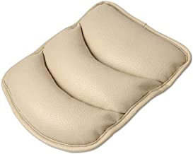 TRUE LINE Automotive Car Center Console Armrest Cushion Comfort Pillow Pad (Beige)