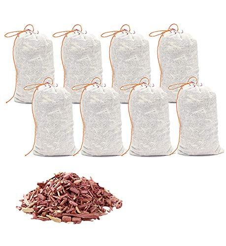 HomeDo Zedernholz Säckchen gegen Kleidermotten,natürlicher Mottenschutz im Kleiderschrank, Anti Motten Ideal für Kleiderbügel Schubladen, Für Kleiderbügel gegen Kleidermotten (Säckchen-8Stück)