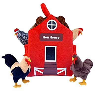 """Adore 12"""" Hen House Chicken Coop Plush Stuffed Animal Playset by Adore Plush Company"""
