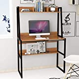 LEPAK Home Office Computer <span class='highlight'>Desk</span>,<span class='highlight'>PC</span> Laptop Study Gaming Table Computer Workstation with Bookshelf and Cable Hole