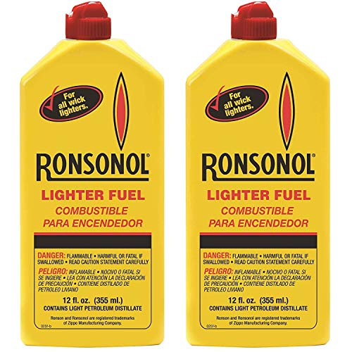 Ronson 12 Ounces Ronsonol Lighter Fuel (Pack of 2)