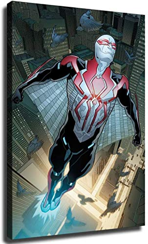 Spider Man 2099 White Suit Canvas Art Poster and Wall Art Picture Print Modern Family Bedroom Decor PostersYAYAO