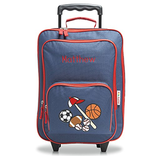 Personalized Rolling Luggage for Kids – All Sports Design, 4.5' x 12' x 16.75'H, By Lillian Vernon